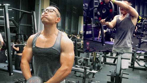 【三角肌训练】肌肉男用六个动作虐肩膀的网红式训练法