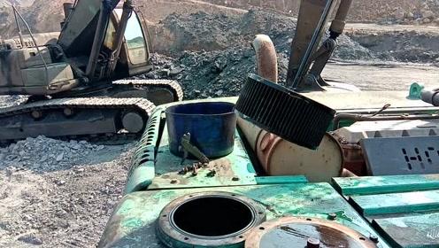 进油滤芯都被堵死了,也不知道是什么脏东西