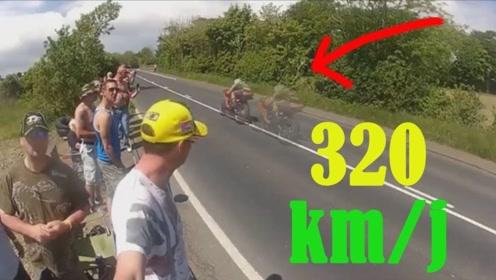 时速300公里的摩托车,是什么概念?差点以为是鬼影!