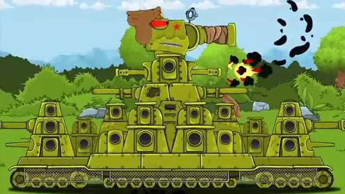 坦克世界动画-破烂kv44这次只能认怂图片