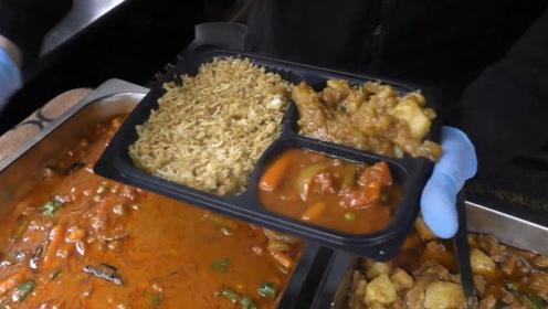 印度有钱人的午餐,居然用上了饭盒,看完却没了胃口!