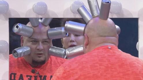 男子头部吸住8个易拉罐,保持10秒不掉落,世界纪录无人能破