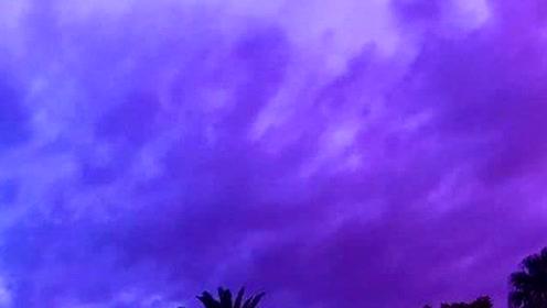 台风海贝思登陆日本天空出现粉紫色:东京发布避难劝告1700趟航班取消