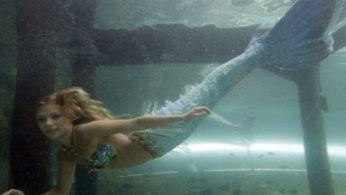 """美国水族馆里活的""""美人鱼"""",能在水下十几米游泳,惊艳"""