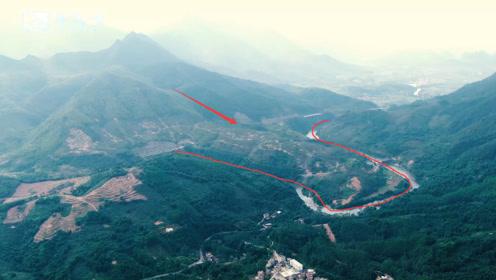 航拍壮观的广西山脉,山环水绕千金难求,据说是个真正的真龙宝地