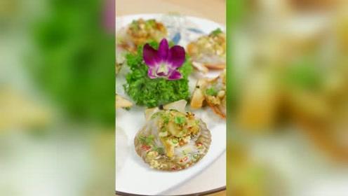 金银蒜粉丝蒸扇贝,简单易学汁鲜肉嫩上桌就被抢光