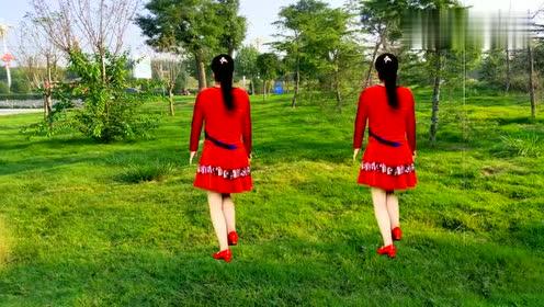 广场舞《山丹红花开》节奏欢快动感,好听又好看