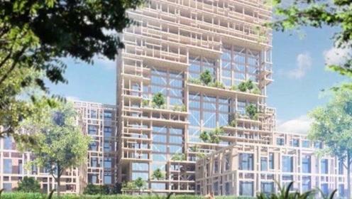 350米高的楼不稀奇,那如果这楼是木头做的呢?日本建筑师绝了