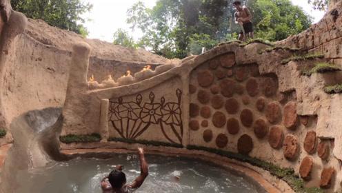 """农村小伙打造""""豪华泳池"""",叫来朋友参观,结果瞬间被惊艳"""