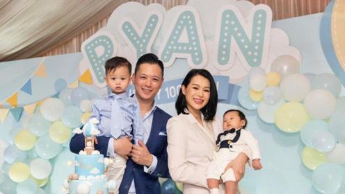胡杏儿夫妇为儿子举办生日派对,2岁宝宝眼睛超大呆萌又可爱