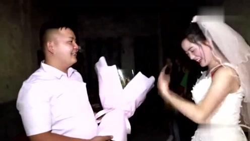 贵州农村一姑娘出嫁,拜别父母,出门走路都在笑,嫁给爱情了