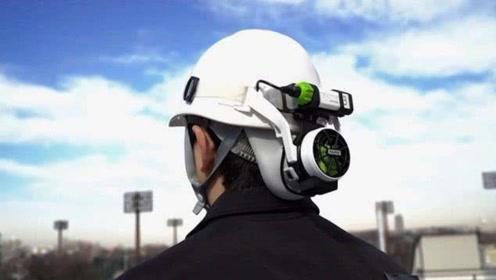 日本人最性化设计,做的这种空调安全帽。农民工争着买!