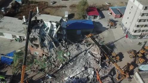 吉林白城办公楼倒塌致5死4伤 搜救工作结束9人已全部救出