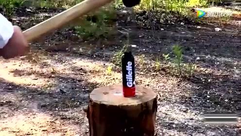 用20斤的铁锤砸摩斯,砸中瞬间太美了!