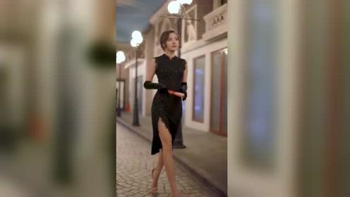 夜灯下的上海老巷纵使再美,也不及姑娘的倩影让人心醉!