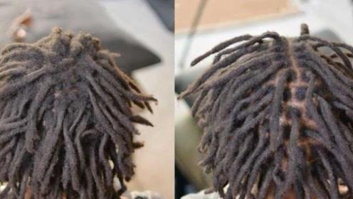 """非洲黑人流行起来的""""脏辫"""",解开头发的那一刻,画面简直不能看!"""