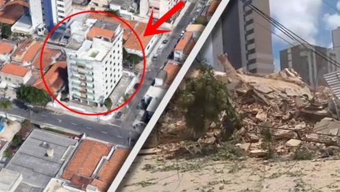 """什么叫""""豆腐渣工程""""?7层大楼突然坍塌,里面的人有机会活命吗?"""
