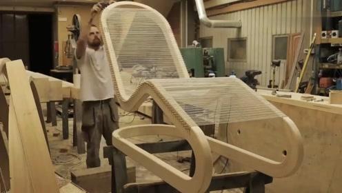 制作一把创意绳索躺椅,像这样的制作方法,成品得卖几千块吧