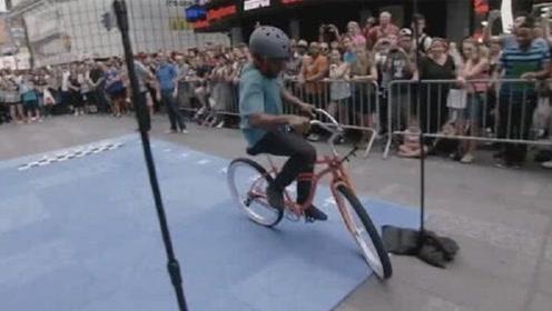世界上最难骑的自行车,骑10米给200美元,小伙竟一次通过