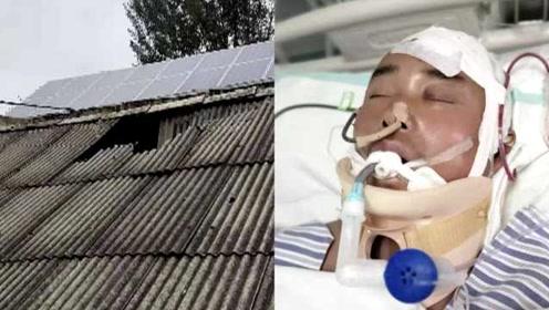 感动!男子为救3岁孩子坠下屋顶昏迷,怀里孩子安然无恙