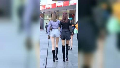秋季街拍:哪个小姐姐身材更好?
