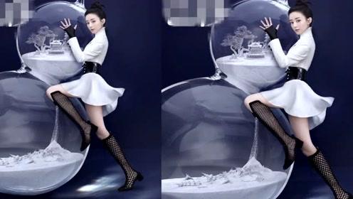 赵丽颖复工首封曝光!渔网靴配白色礼服俏皮可爱,被赞像小公主