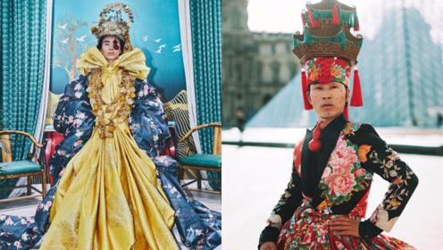 网红东北小伙把塑料穿出最美境界!巴黎卢浮宫走秀宣扬环保太吸睛