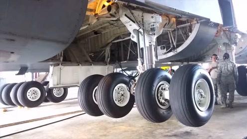 飞机下实拍:飞机起落架是如何工作的