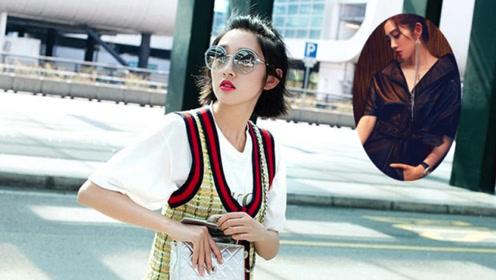 唐艺昕的秋冬季穿搭,黑色的皮衣裙酷帅个性,粉色的外套少女感十足