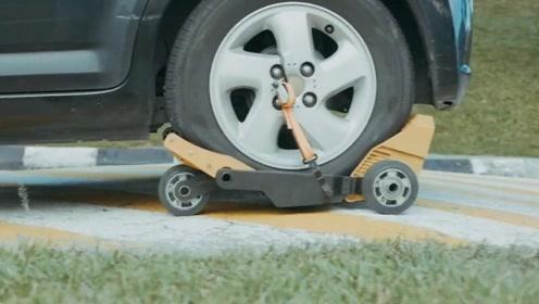 有了这行驶轮胎,路上爆胎无需换胎,直接套上就能跑