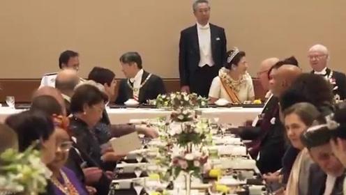 日本天皇即位礼晚宴现场 世界政要云集