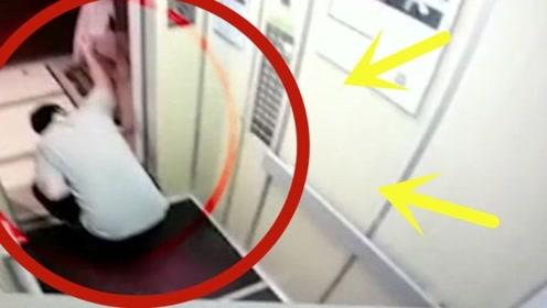 男子电梯作恶多次偷看美女,五次三番掀起裙子,监控全程拍下