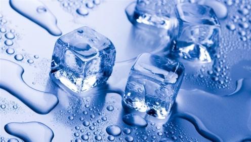 原来冰块加工这么简单,用水浇一下就成冰块了!