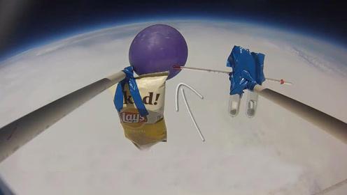 气球在外太空爆炸的威力有多大?老外大胆试验,结果很壮观