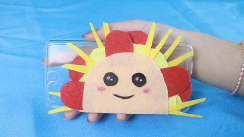 如何用毛毡布制作娃娃?教你一招,手机壳变得可爱有趣