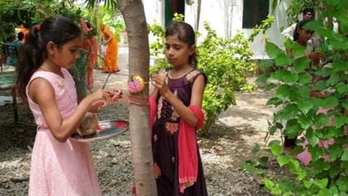 印度一村落风俗奇特:每出生一女孩,村里就为她种111棵树