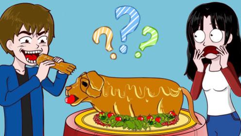 男孩伤害女孩被狗狗勇救,下一秒狗狗竟成盘中餐,女孩瞬间情绪失控!