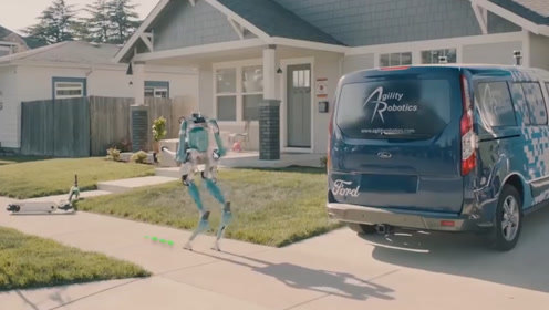"""福特发明""""快递机器人"""",模仿人类行走,能解决双11物流拥堵?"""