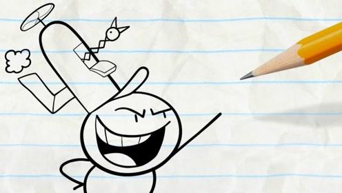 铅笔人嫌自己太矮,企图用高帽来掩饰小矮人的身高?网友:太逗了!