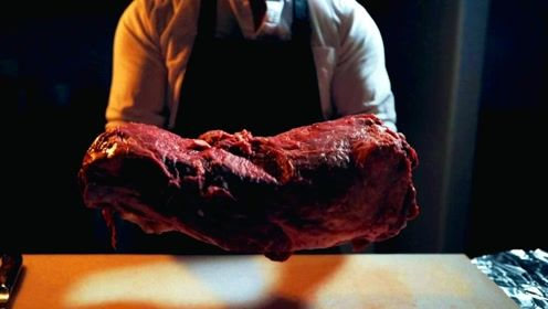 大块美味牛排的制作过程欣赏,大厨亲制!