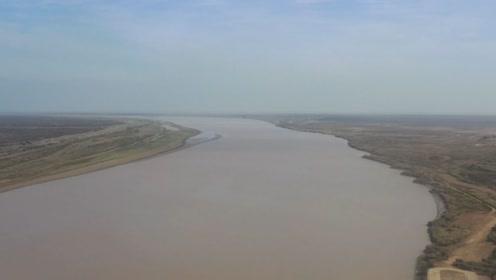 无人机航拍东营黄河入海口,万里黄河在这里奔腾如海,壮观!