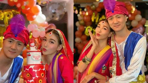 李彩华36岁生日与丈夫合体 扮印度西施造型美丽抢眼