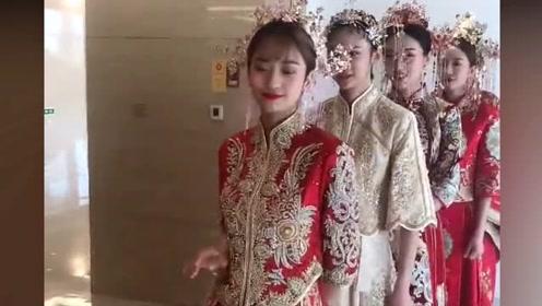 最美伴娘团,伴娘们颜值太高,都分不清哪个是新娘伴娘了