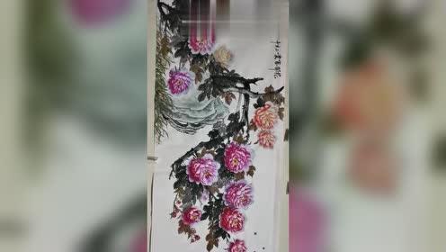 国画牡丹欣赏:唯有牡丹真国色,花开时节动京城
