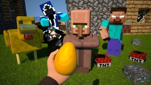 玩家偷了巨人的金蛋,孵化出了下金蛋的小鸡,第一人称视角游戏