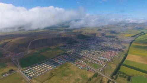 新疆唯一没有沙漠的县城, 草原辽阔鲜花盛开, 堪称人间仙境