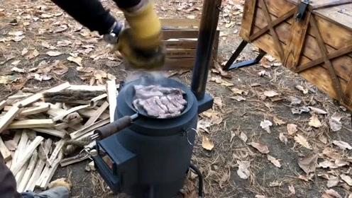 旧铁罐改造成户外火炉,这创意也太实用了,看完我赶紧做一个