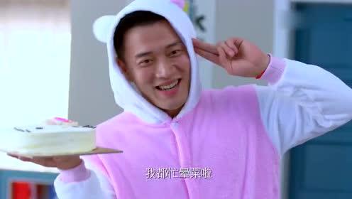 二胎时代:陆晓东给馨儿过生日扮成HelloKitty的样子!