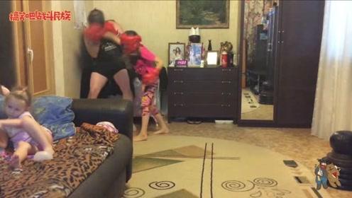 战斗民族岳父真的惹不起!女儿才7岁,天天带女儿练拳击