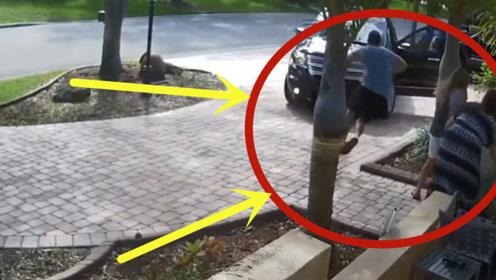 母女二人下车争吵,爸爸赶紧前来劝架,下一秒代价太大了!